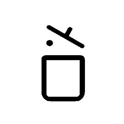 pictogramme de Collecte et traitement des déchets ménagers et assimilés