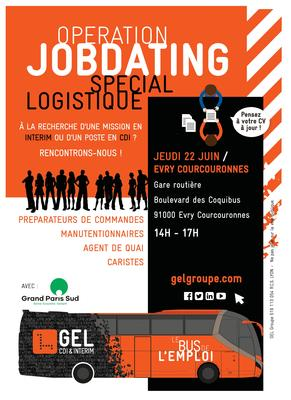 Affiche bus pour l'emploi