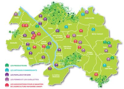 Carte produits locaux de Grand Paris Sud
