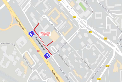Plan quartier Parc aux Lièvres Évry - chauffage urbain