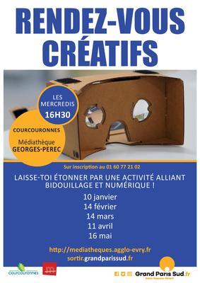 image de couverture de Les rendez-vous créatifs de la médiathèque Georges Perec