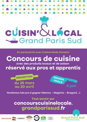 Affiche - Concours Cuisin&Local à Grand Paris Sud