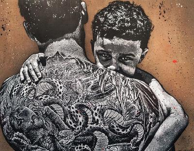 """image de couverture de Inauguration de l'oeuvre de Jef Aérosol """"City Kids"""", à Evry"""