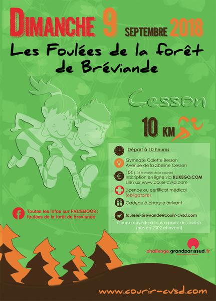 image de couverture de Foulées de la Forêt de Bréviande 2018 - Challenge Grand Paris Sud