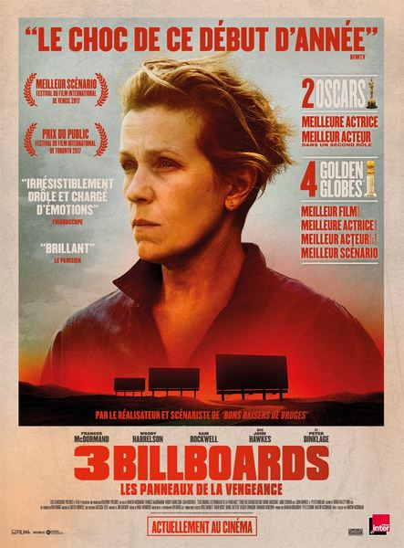 3 billboards affiche