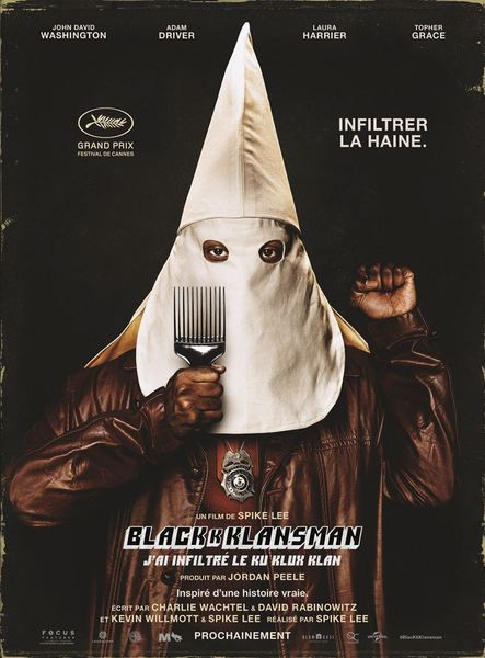 Blackkklansman affiche