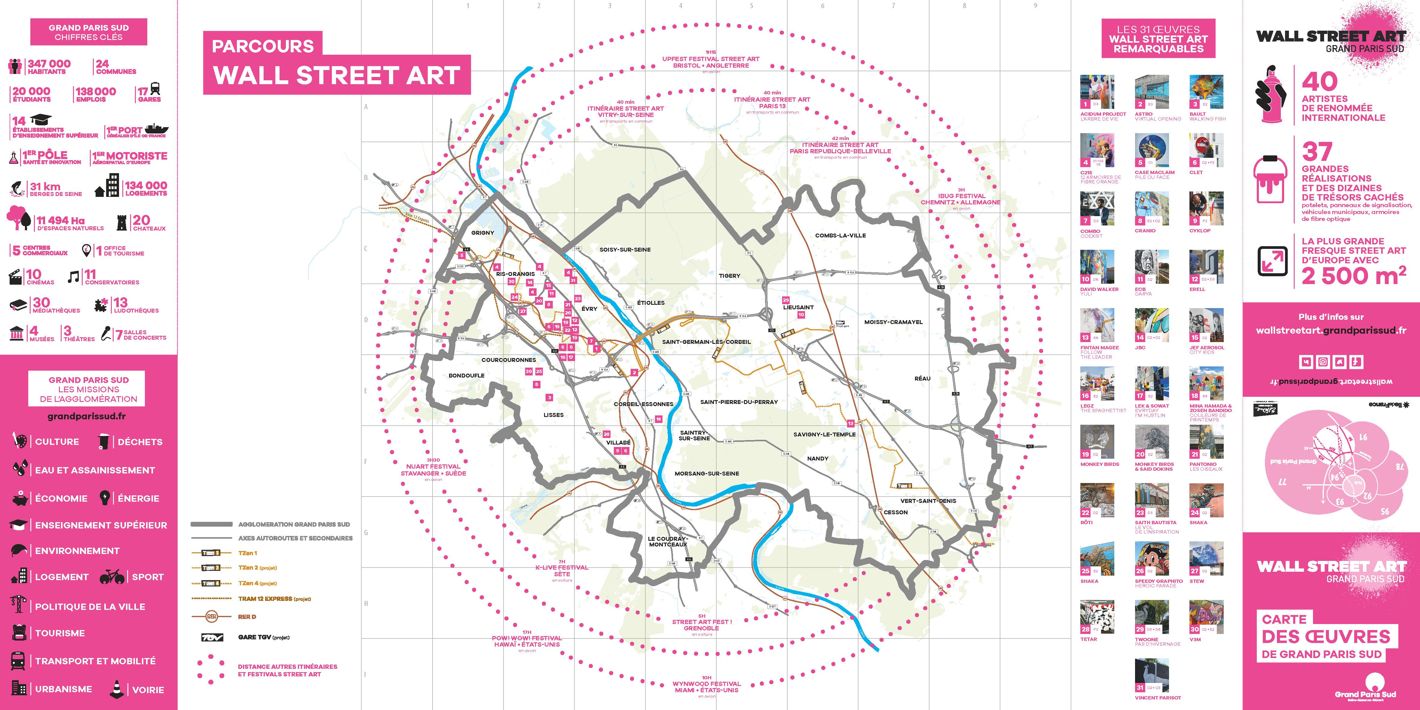 Carte Essonne Pdf.La Carte Des Oeuvres Wall Street Art De Grand Paris Sud Est