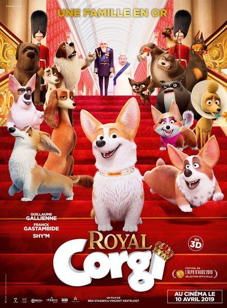 Royal corgi affiche